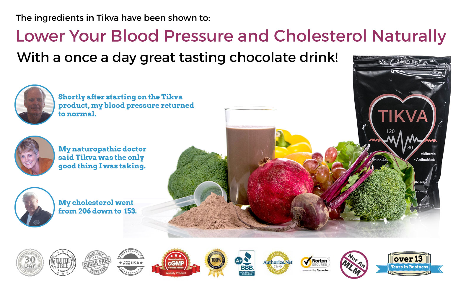 Tikva - Naturally Lower Your Blood Pressure And Cholesterol